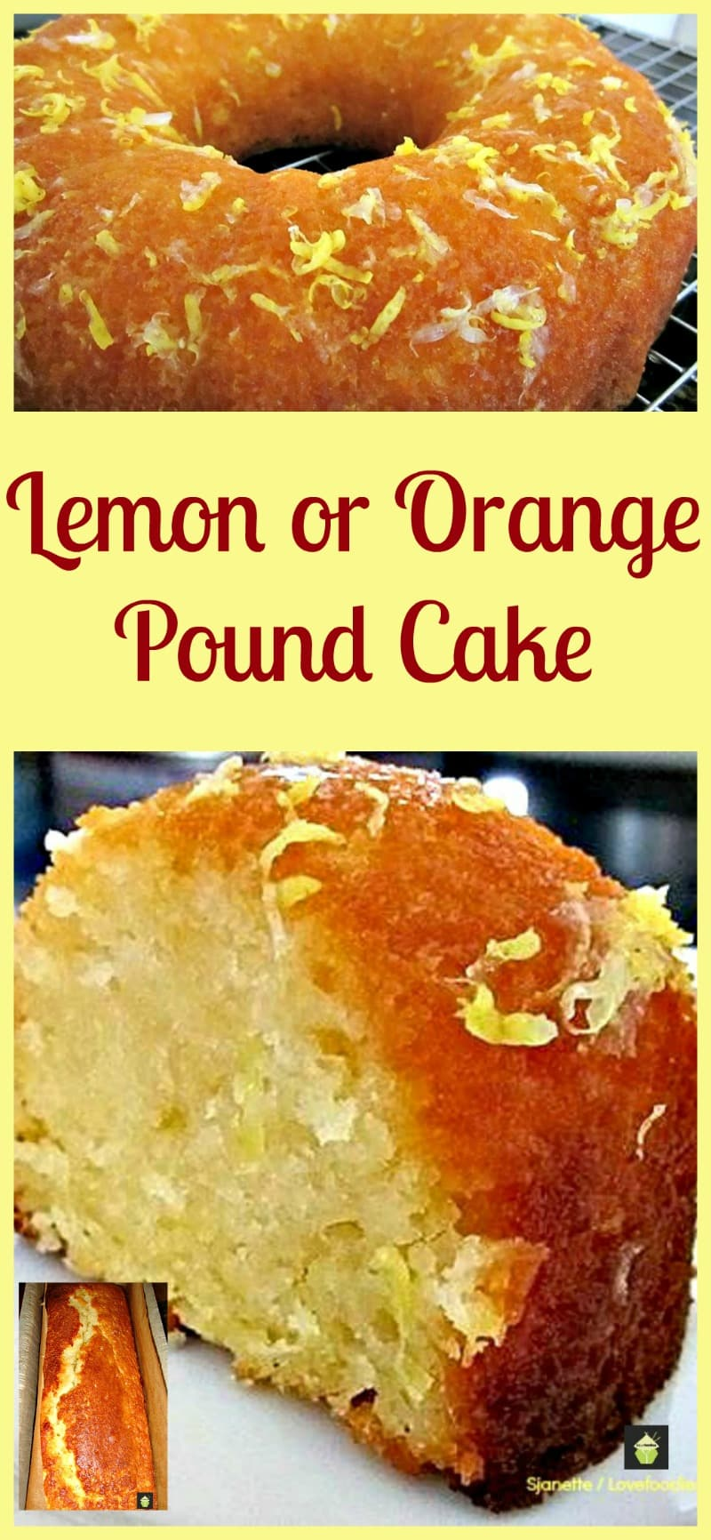 Old Fashioned Orange Pound Cake