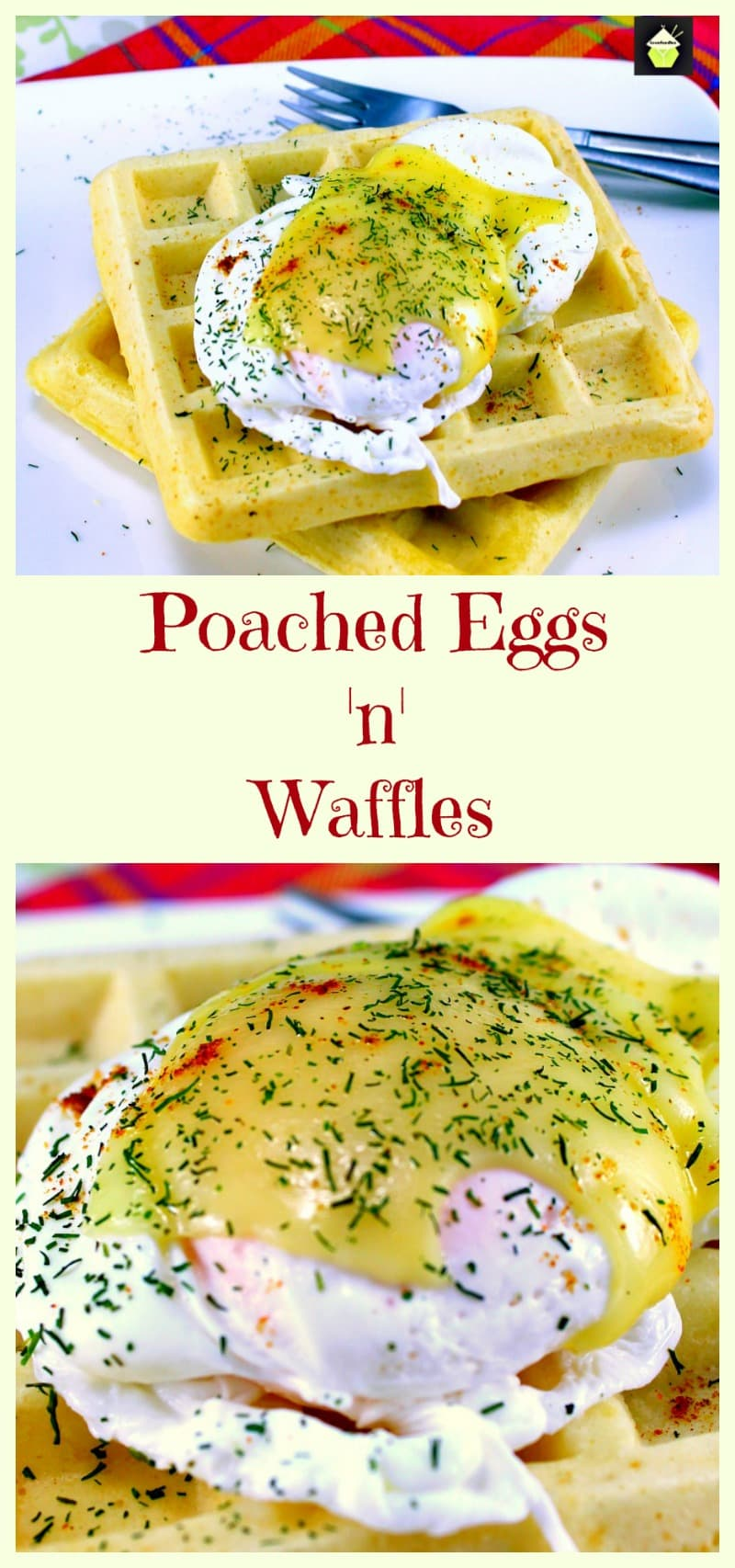 Waffle Brunch! a super easy recipe for low fat waffles, poached eggs with melted cheese. Makes a nice idea for a lovely breakfast, brunch or supper. You decide!  | Lovefoodies.com