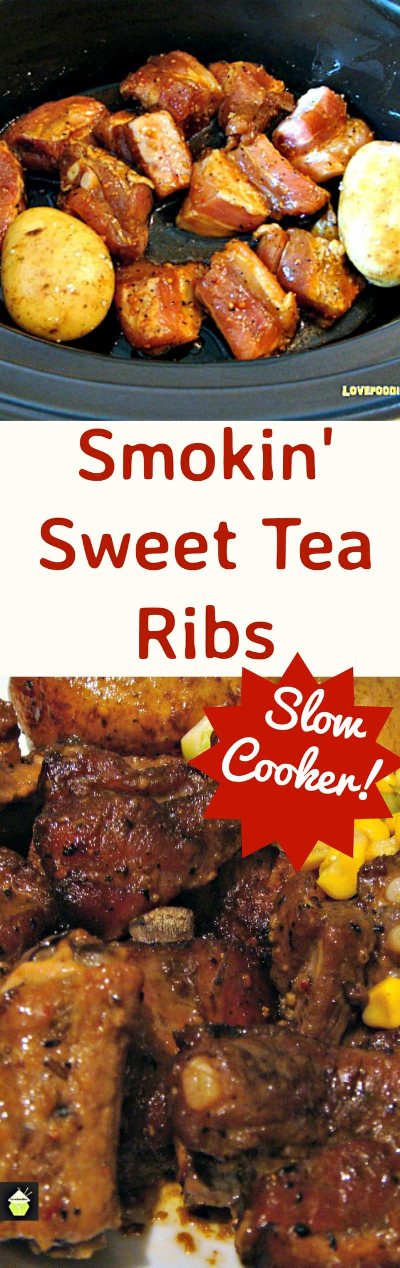 Smokin' Sweet Tea Ribs. Use pork or beef ribs, chops, drumsticks, you choose! Slow Cooker/Crock pot! You can also use this wonderful marinade for grilling or oven! Also makes for great party food!