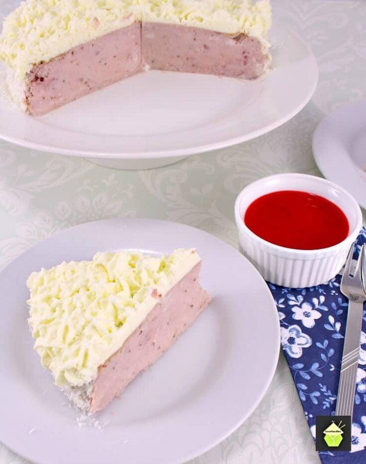 Strawberry and Coconut Ricotta Cheesecake