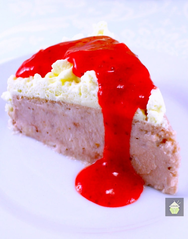 Strawberry and Coconut Ricotta Cheesecake. A delicious fluffy, creamy ...