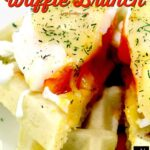 Waffle Brunch! A super easy recipe for low-fat waffles, poached eggs with melted cheese. Makes a nice idea for a lovely breakfast, brunch or supper. You decide!