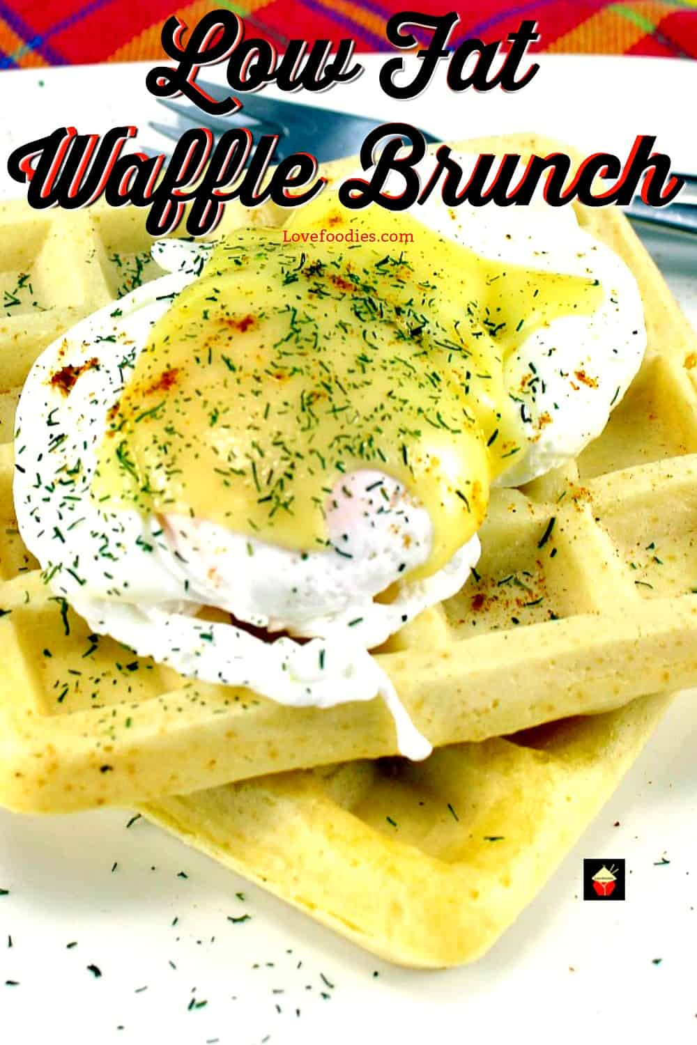 Poached Eggs And Waffles Brunch Easy Recipe For Low Fat Waffles
