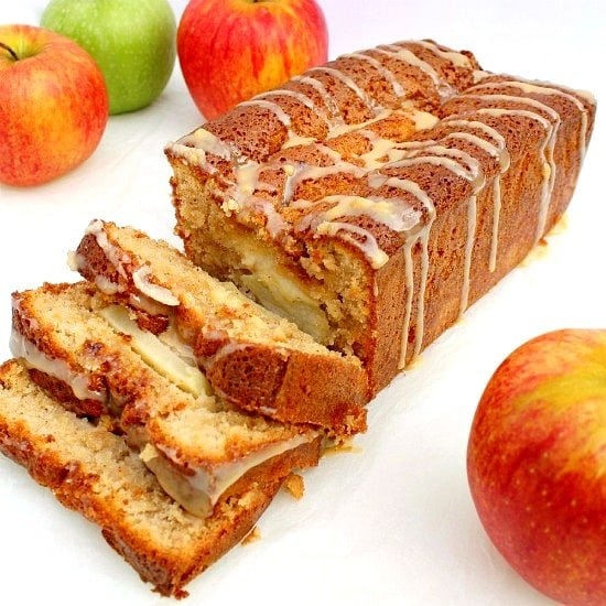 Moist Caramel and Apple Loaf, A delicious, moist caramel and apple loaf cake. Easy to make, perfect for breakfast,snack time or dessert! Amazing fall flavors with cinnamon