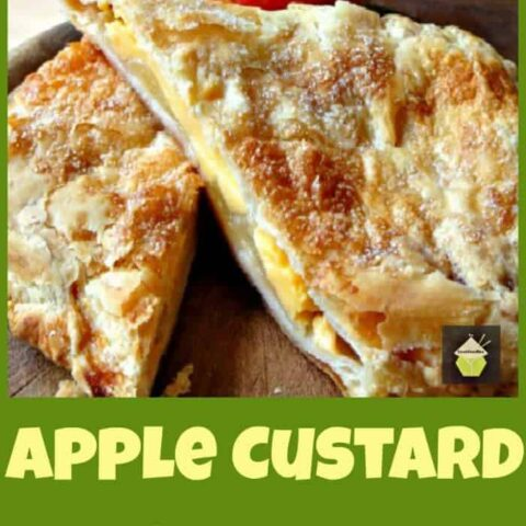 Delicious Apple and Custard Strudel, serve warm on their own or add a blob of whipped cream!