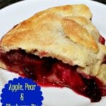Apple, Pear and Blueberry Pie