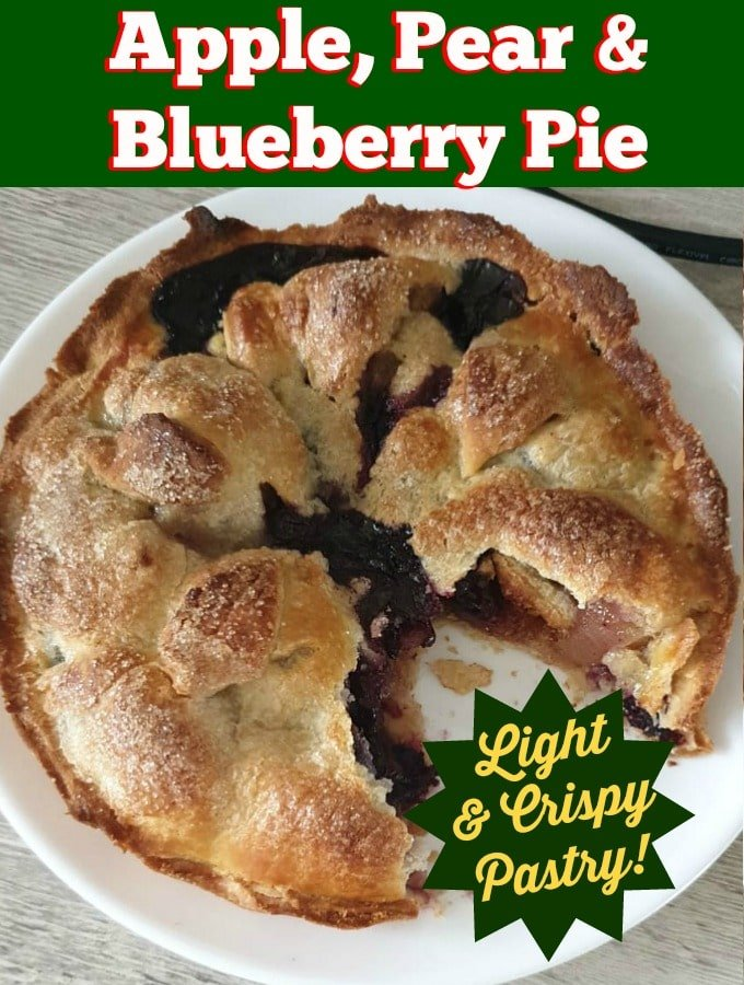 Apple Pear and Blueberry PieHero
