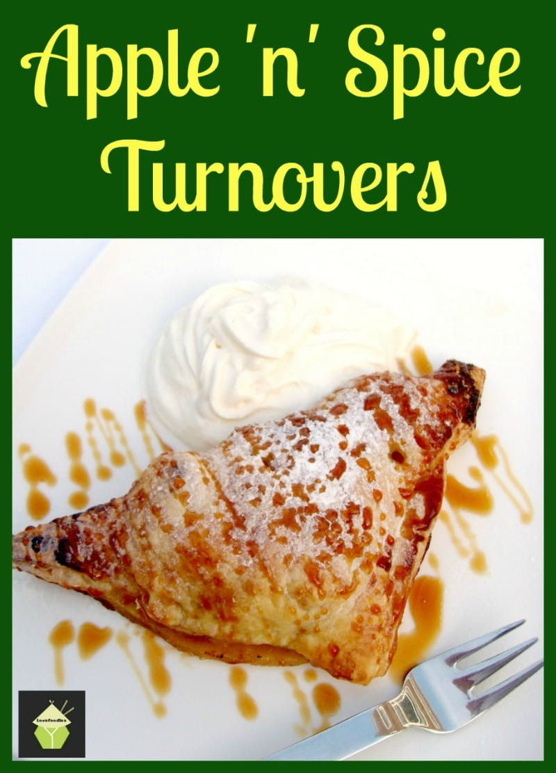 Easy Apple Spiced Turnovers. Crispy puff pastry packed with apples coated in cinnamon. Delicious eaten warm or chilled with a blob of ice cream too! Easy recipe, budget friendly and freezable.