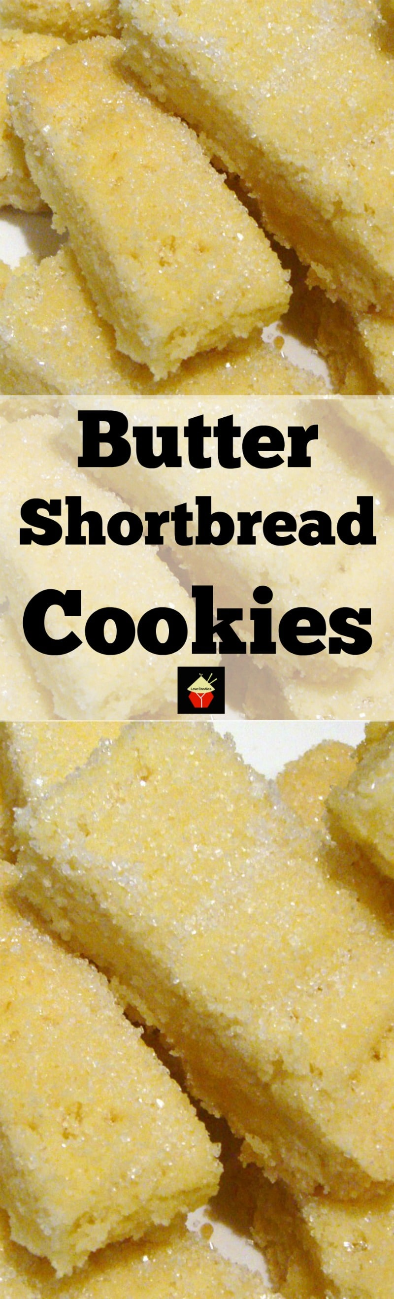 Butter Shortbread simply a delight to eat! The dough is so easy to make and uses simple ingredients. These are a traditional cookie and melt in your mouth!   Lovefoodies.com