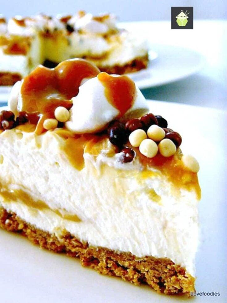 Caramel Mountain Top Cheesecake