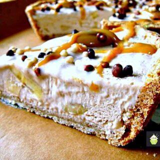 Caramel Pecan Butter Banana Pie