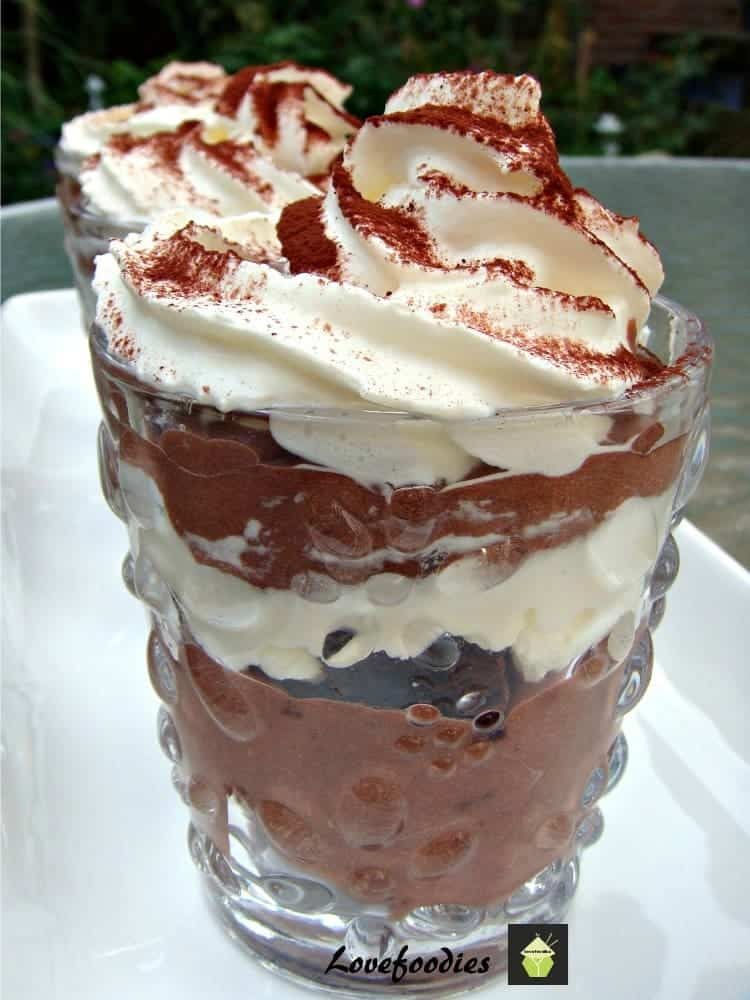 Dreamy Chocolate Trifle. A great easy recipe, made from scratch or option to make from instant. Come and see the goodies in this lovely chilled dessert! (Brownie lovers beware!!)