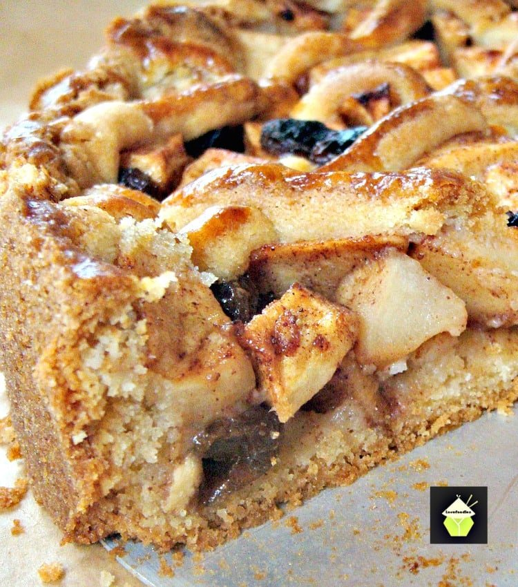 Dutch Apple Pie - Loaded with apples, raisins, cinnamon and the most delicious pastry I've ever eaten! Be sure to have a lovely cup of coffee to go with a slice of pie in true Dutch tradition!