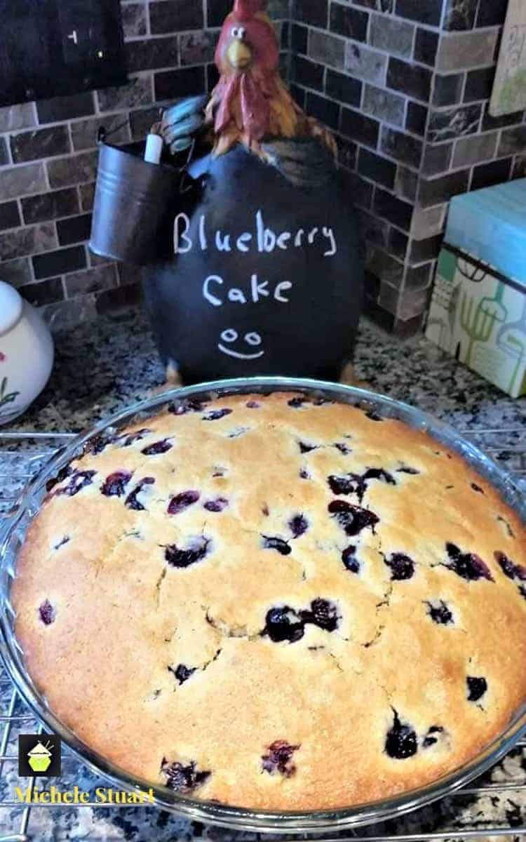 Easy Blueberry Cake. A very easy recipe loaded with blueberries and perfect with a cup of tea!