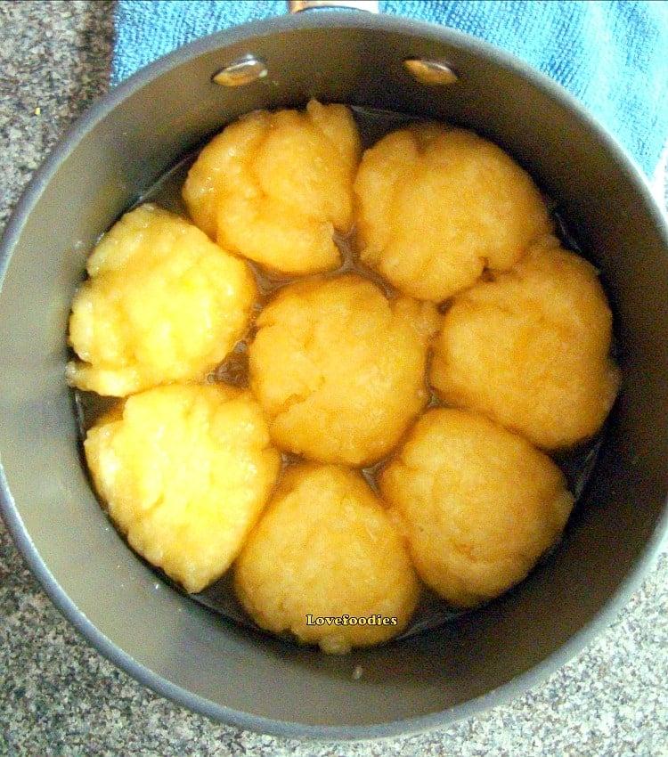 Easy Lemon Dumplings, cooking dumplings in syrup