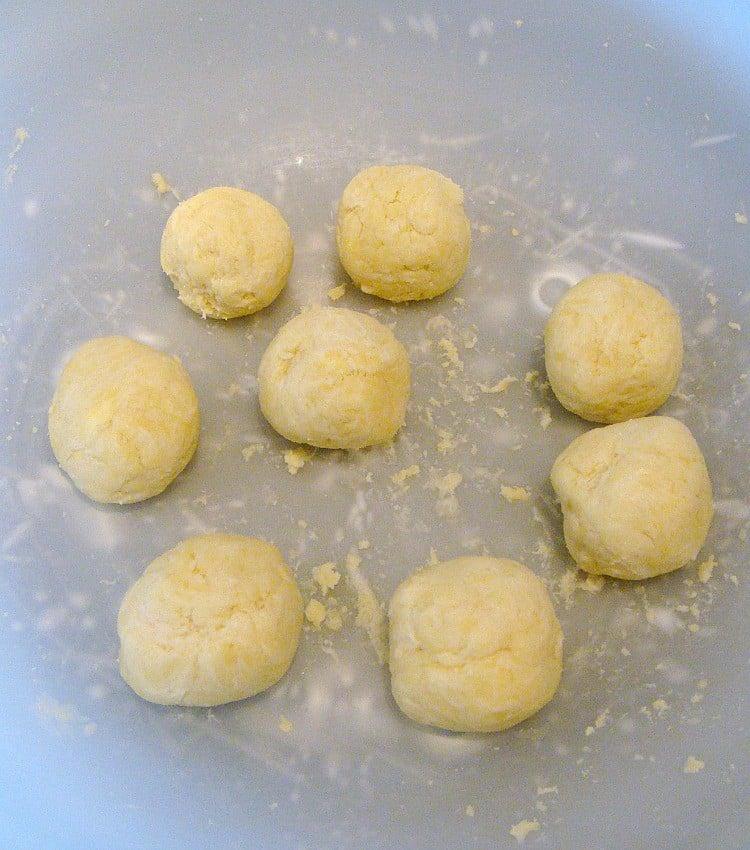Easy Lemon Dumplings, making dumplings