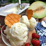 Easy Creamy Melon Ice Cream