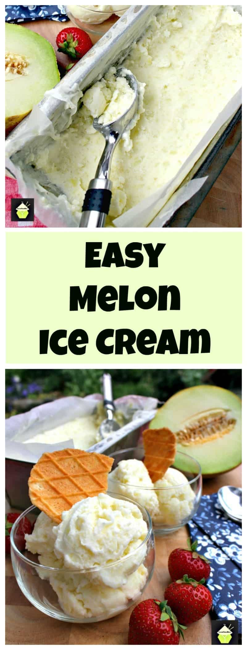 Easy Melon Ice Cream,An easy recipe with a great refreshing flavor. Egg free, creamy and delicious!