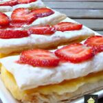 Easy Vanilla Slices. Creamy custard sandwiched between sheets of crispy puff pastry make for a nice chilled treat perfect for any occasion.