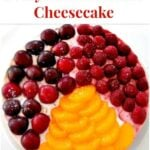 3 in 1 NO BAKE Cheesecake. A delicious dessert using 3 different flavors to please everyone! Really easy recipe and great for parties. | Lovefoodies.com