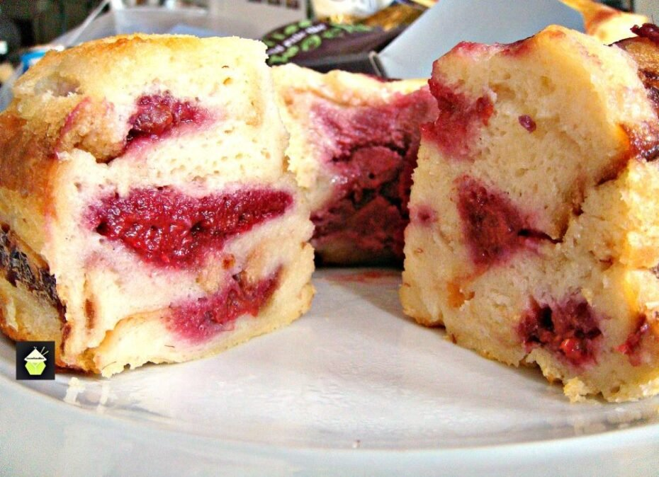 Raspberry Ripple Bread and Butter Pudding A wonderful dessert, best served warm with a blob of ice cream, whipped cream, or both!