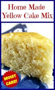 Home Made Yellow Cake Mix