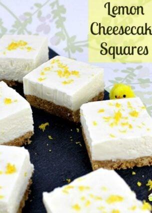 Lemon Cheesecake Squares. A very easy, no bake recipe with a wonderful lemon flavor.