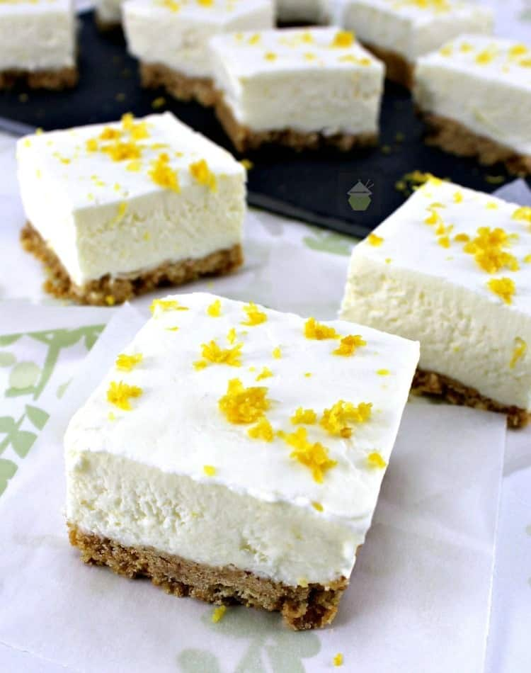 Lemon Cheesecake Squares – Lovefoodies