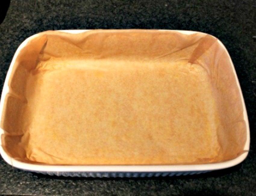 Lemon Drizzle Raspberry Ripple Cake, line pan