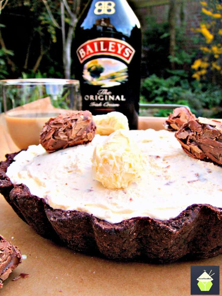 Irish Cream Pie... A wonderful chilled, creamy dessert inside a chocolate pie crust. Delicious!
