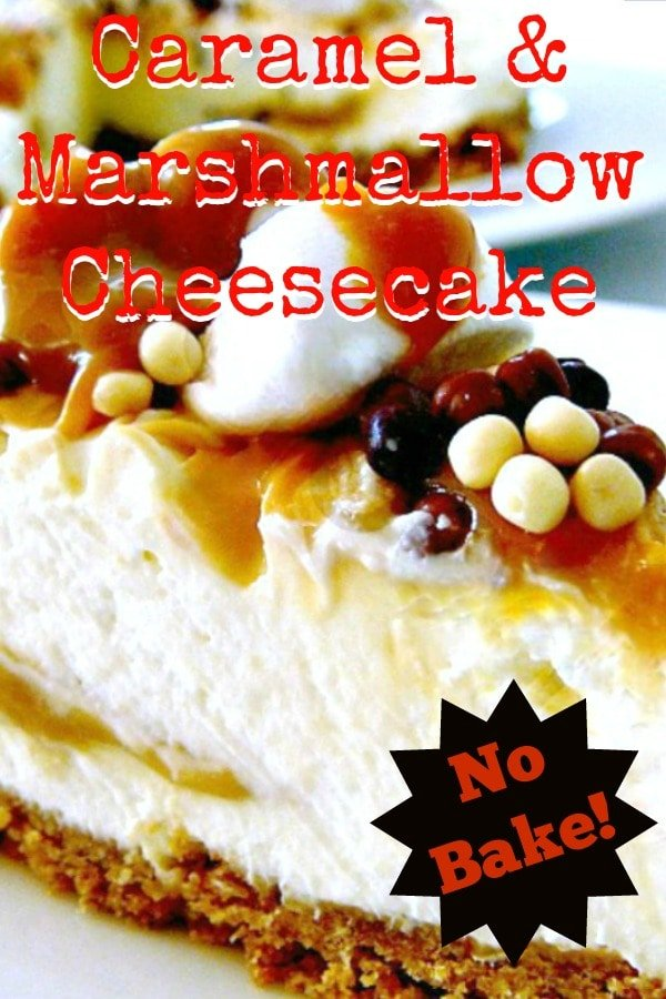 No Bake Caramel and Marshmallow CheesecakeP3