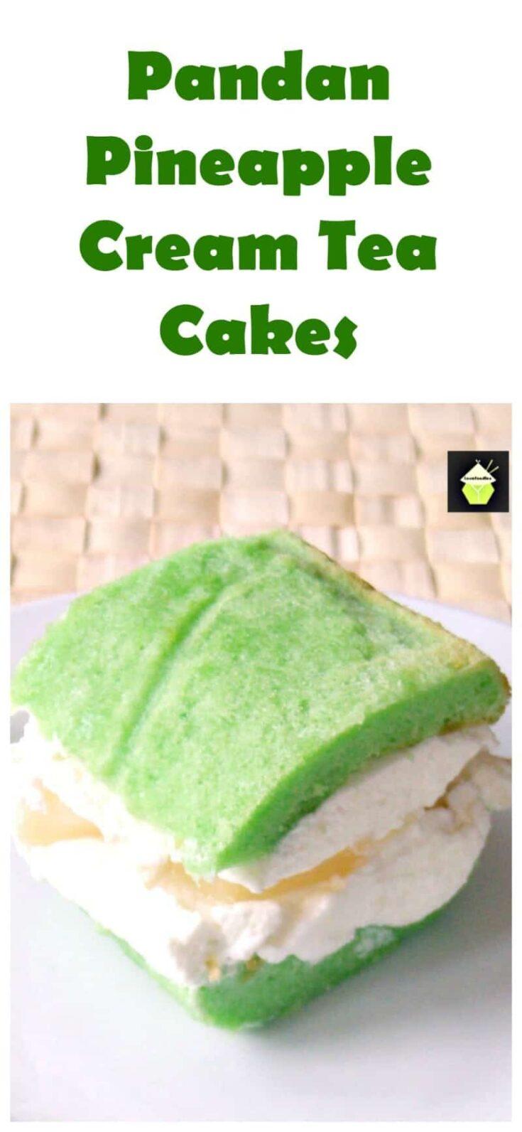 Pandan Pineapple Cream Tea Cakes PTL