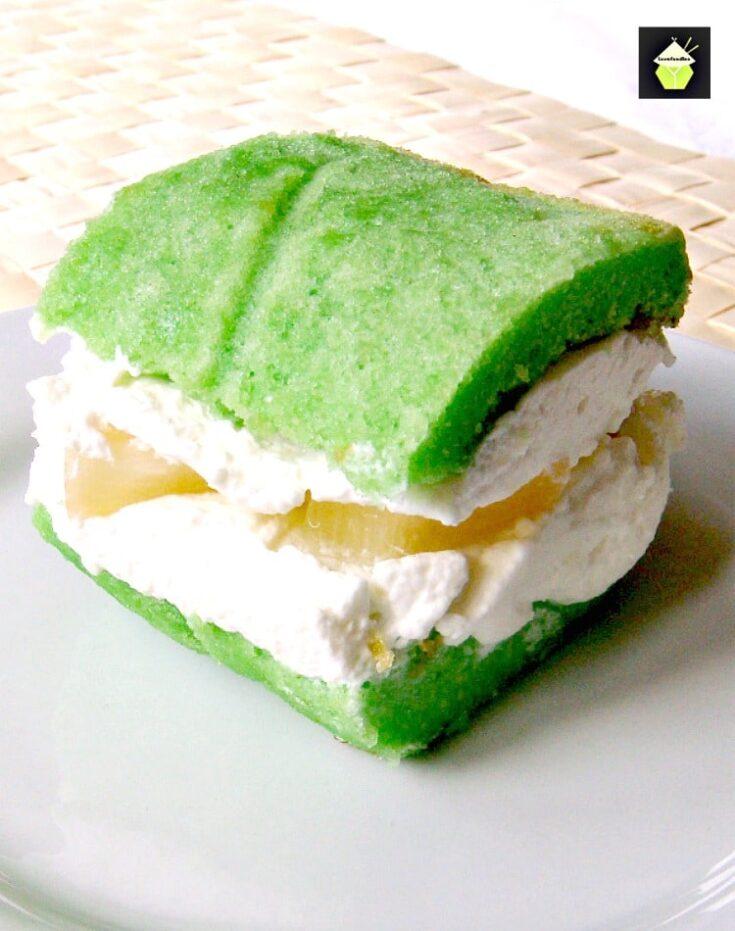 Pandan Pineapple Cream Tea Cakes7