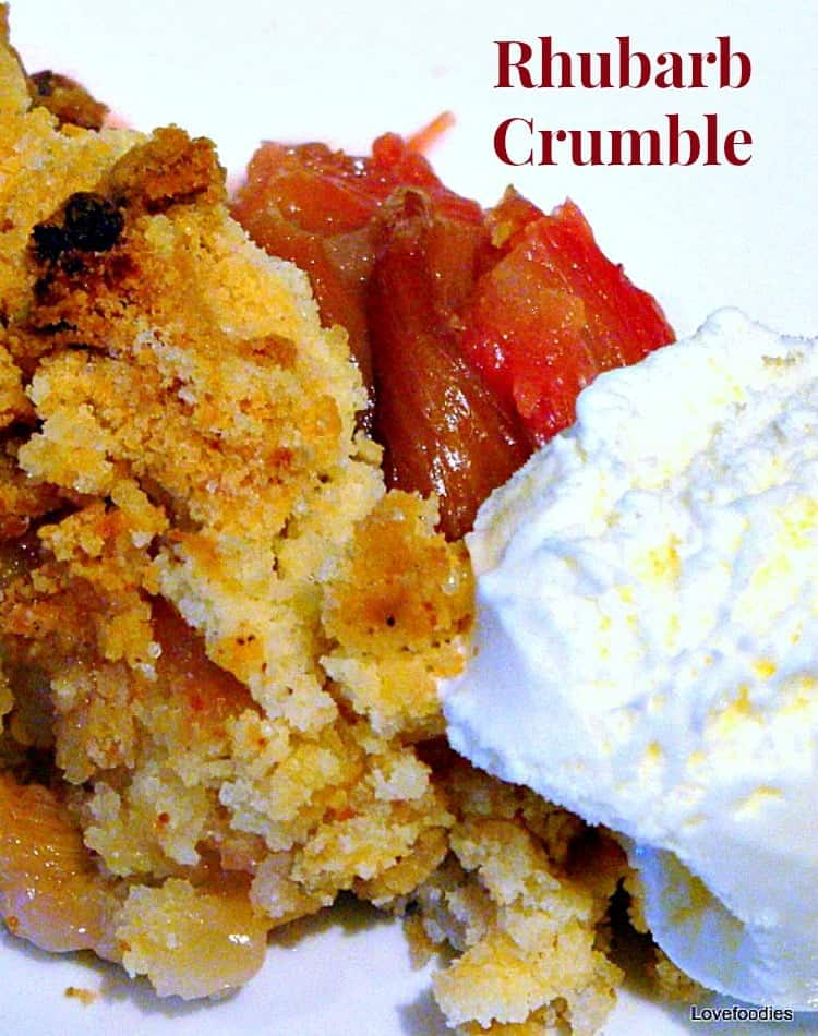 Rhubarb Crumble / Cobbler. A wonderful warm dessert, and you can use this same recipe for any basic crumble, and just change the fruit. How easy is that?!
