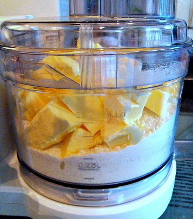 Blueberry Coconut Bars, Make the shortbread base