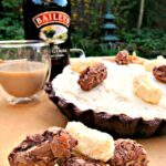 Irish Cream Pie... A wonderful chilled, creamy dessert inside a chocolate pie crust. Delicious!