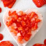 Strawberries and Cream Cheesecake Hearts. Really easy, no bake dessert. You can also make any shapes you like!