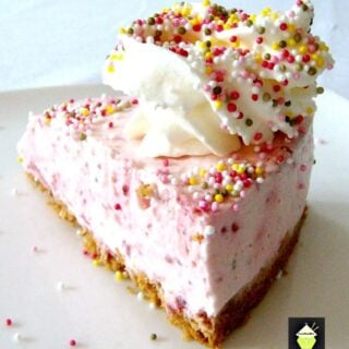 Strawberries and Cream Cheesecake Hearts