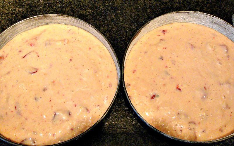 Strawberry Yogurt Cake, showing before baking