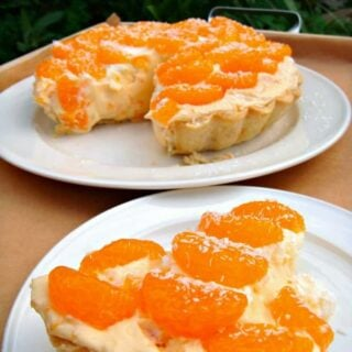 Tropical Mandarin Pie. A wonderful creamy coconut and mandarin pie. Sunshine on a plate!