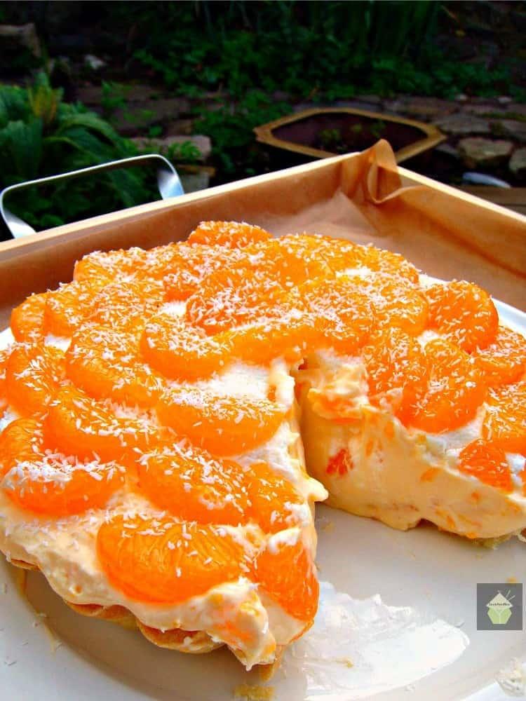 Tropical Mandarin Pie. A wonderful creamy coconut and mandarin pie. Sunshine on a plate!