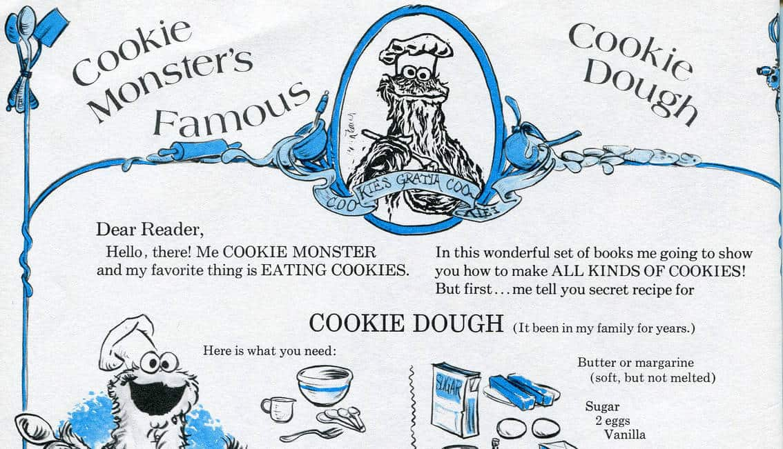 Cookie Monster Cookie Dough Lovefoodies