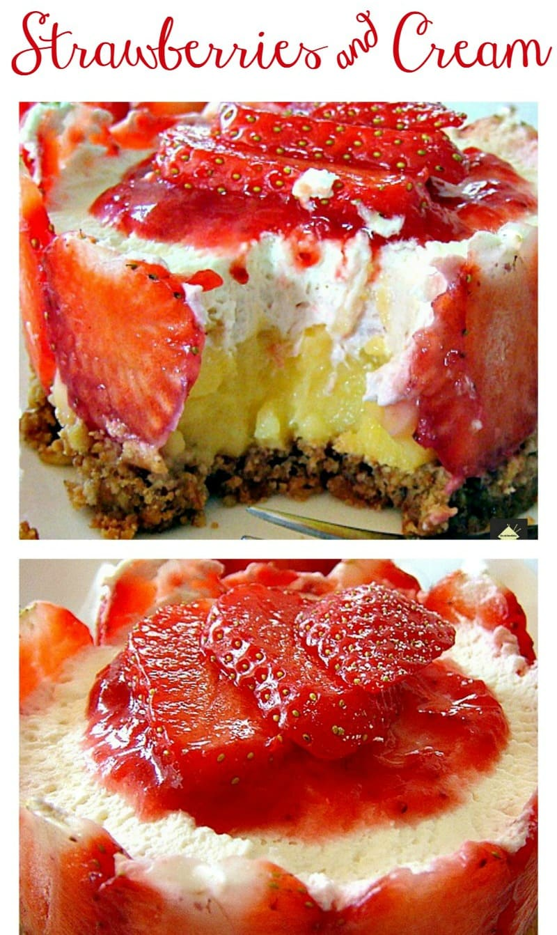 Strawberries & Cream Tiara! Easy to make and VERY delicious