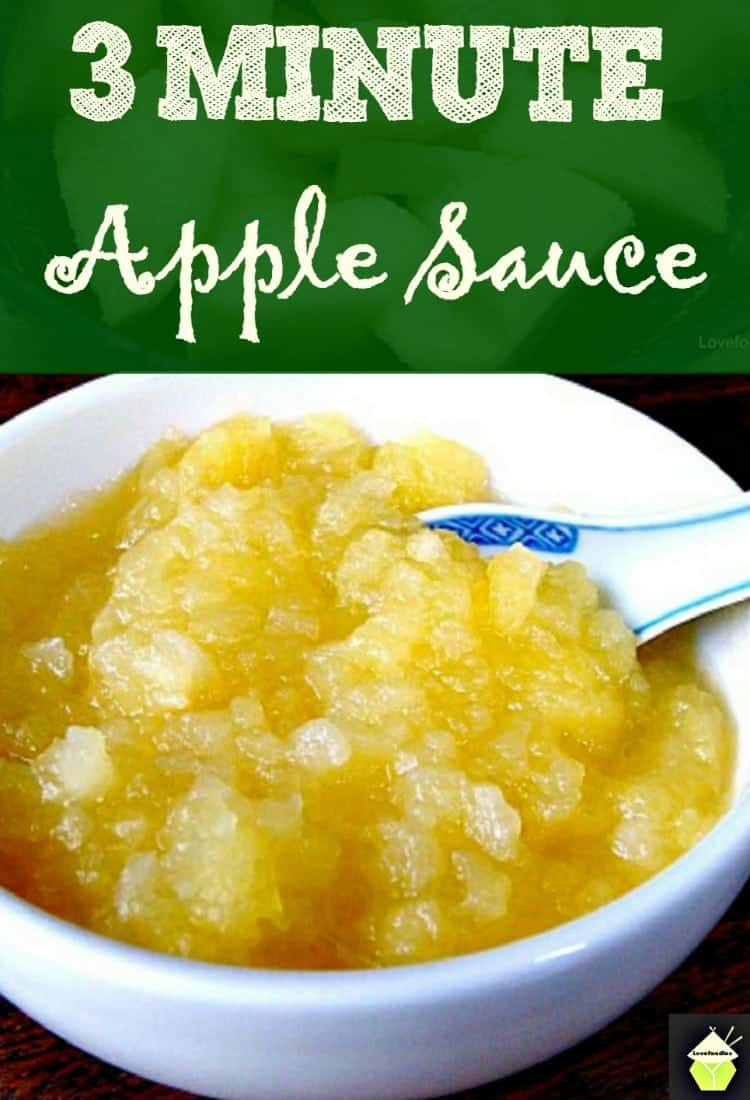 How To Make 3 Minute Apple Sauce | Lovefoodies