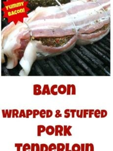 BACON LOVERS! Bacon Wrapped Stuffed Pork Tenderloin and a great rub recipe too. Perfect for grilling or oven. You choose!
