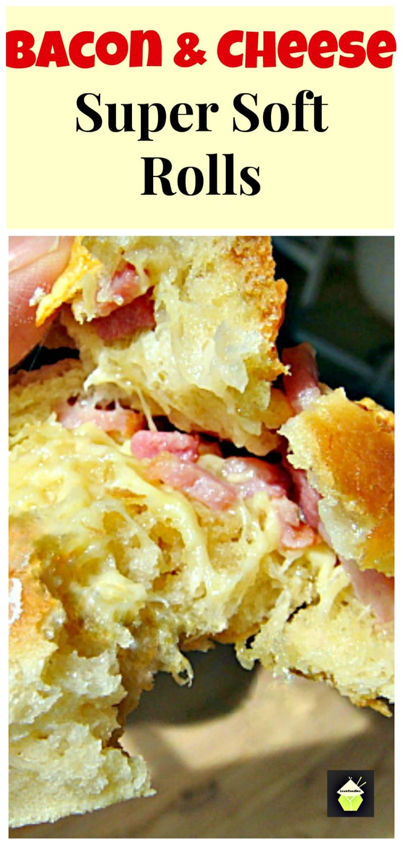 Bacon & Cheese Soft Rolls - Super delicious when eaten fresh from the oven when the cheese is melting!