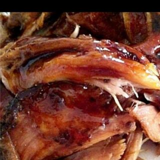 Balsamic Glazed Slow Cooked Pork . Wonderful flavours and of course very delicious!