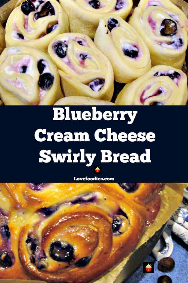 BLUEBERRY CREAM CHEESE SWIRLY BREAD .... oh my! Seriously soft, sticky, creamy yummy! Happy baking!