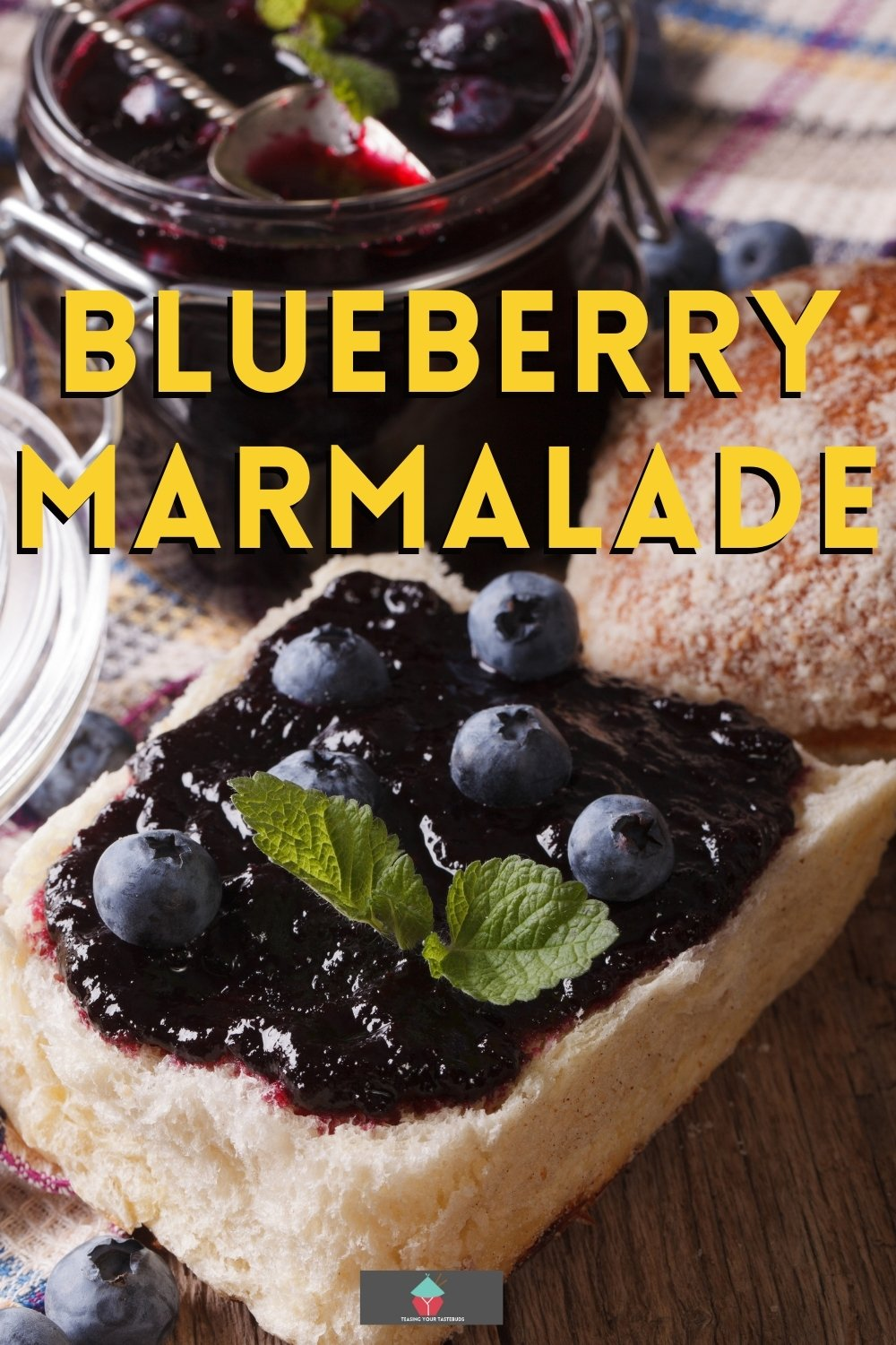 How To Make Blueberry Marmalade, homemade jam with added lemon and orange make this a delicious preserve for breakfast time.