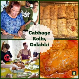 Cabbage Rolls, Golabki. A classic stuffed cabbage recipe, easy to make and also a vegetarian option in the recipe. A great tasting meal!